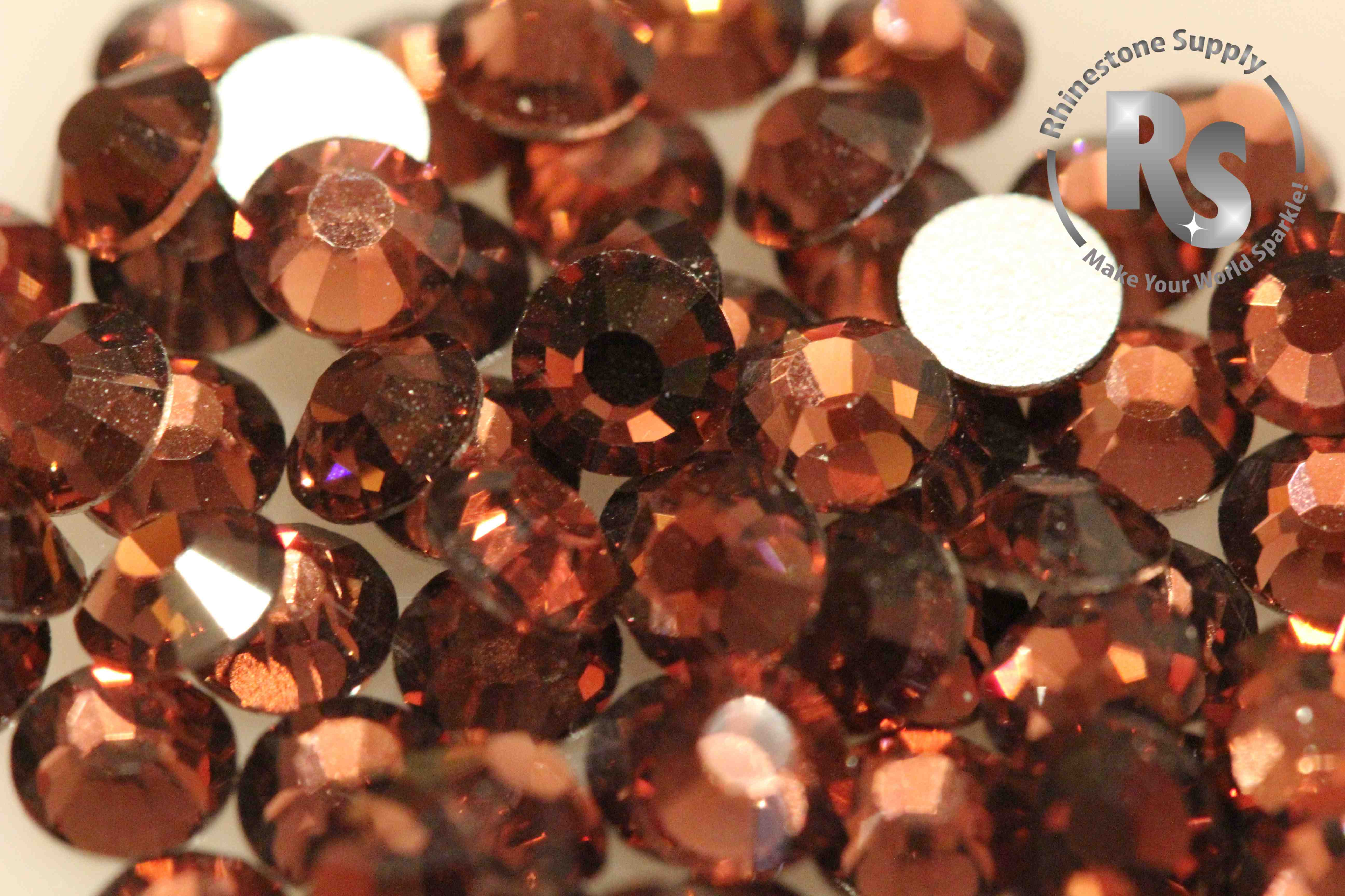 BURGUNDY (Light) Preciosa Flat Back Rhinestones