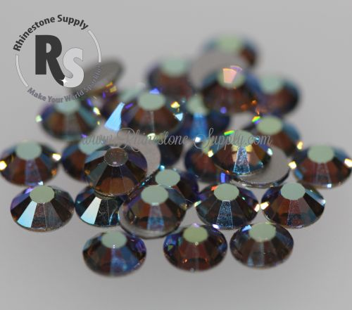 BLACK DIAMOND AB Preciosa Flat Back Rhinestones