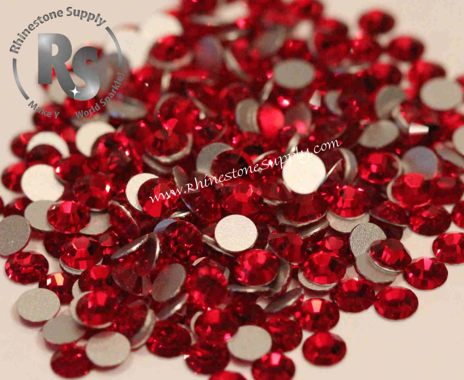 LIGHT SIAM Preciosa Flat Back Rhinestones