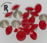 PP31 Dark Red Coral 1028 Swarovski Point Back Chaton