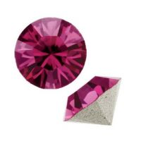 24ss Fuchsia 1028 Swarovski Point Back Chaton