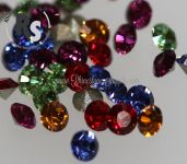 PP21 Rainbow Mix 1028 Swarovski Point Back Chaton