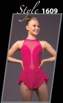 Brad Griffies Skating Dress 1609 RASPBERRY Adult EXTRA SMALL