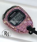 Stopwatch by Accusplit with LIGHT ROSE (Pink) Rhinestones