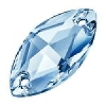 LIGHT SAPPHIRE 12 x 6 mm Preciosa Sew On NAVETTE Flatback
