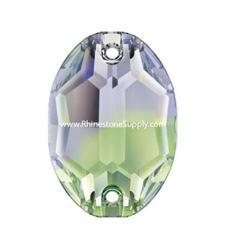 3210 OVAL 10mm x 7mm Sew On Provence Lavender-Chrysolite Blend Flatback Rhinestones