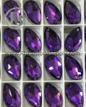 3230 HELIOTROPE 18mm x 10.5mm PEAR Sew On Rhinestones