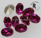 7 x 5mm FUCHSIA Oval 4100 Swarovski Point Back Chaton