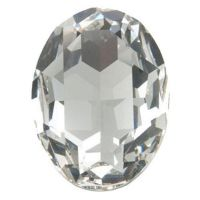 6x4mm CRYSTAL Oval 4120 Swarovski Point Back Chaton