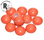 10mm Coral Pearl Cabochon 5817 1/2 Drilled