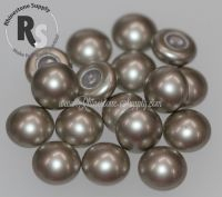 06mm PLATINUM Pearl Cabochon 5817 1/2 Drilled