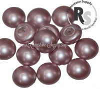 08mm Powder Rose Pearl Cabochon 5817 1/2 Drilled