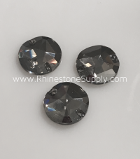 ROUND 14mm 3750 Sew On CRYSTAL SATIN Flatback Rhinestones