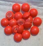 08mm NEON RED Pearl Cabochon 5817 1/2 Drilled