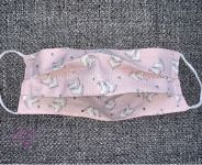 Mask - ICE SKATE (Light Pink) Cotton Face Mask - With or Without Rhinestones