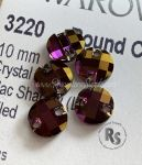 3220 ROUND CHESSBOARD 10mm Sew On LILAC SHADOW Flatback Rhinestones