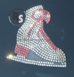 Ice Skate in Rhinestones CAR WINDOW Decal