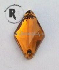 TOPAZ 18mm x 11mm Diamond SEW ON Rhinestone