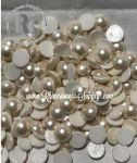 34ss Chalkwhite Creampearl 2080/4 HOT FIX Flatback Pearl Cabochons