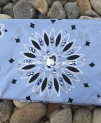Biker Bling Bandana for the Harley Ladies - LIGHT BLUE Burst