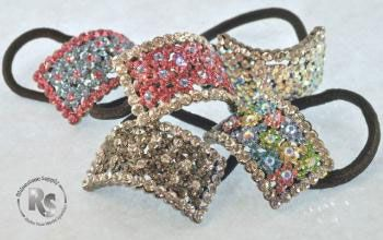 Pony Holder with Rhinestones in many color choices