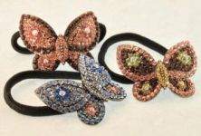 BUTTERFLY Pony Holder in Rhinestones