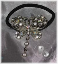 BUTTERFLY Pony Holder with Rhinestones