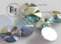 10mm CRYSTAL AB Rivoli Flat Back