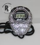 Stopwatch by Ultrak with CRYSTAL (Clear) Rhinestones