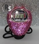 Stopwatch by Ultrak with PINK Rhinestones