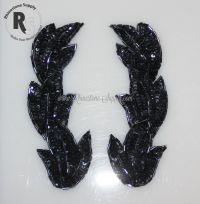 "Gunmetal Applique - Set of 2 - 5.5"" x 2"""