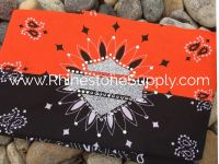 Biker Bling Bandana for the Harley Ladies - Orange & Black