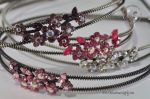 Headband with Rhinestone cluster and metal band