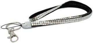 Rhinestone Lanyard - Multiple Colors - Long