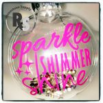 Sparkle Shimmer Shine Holiday Ornament with crystals